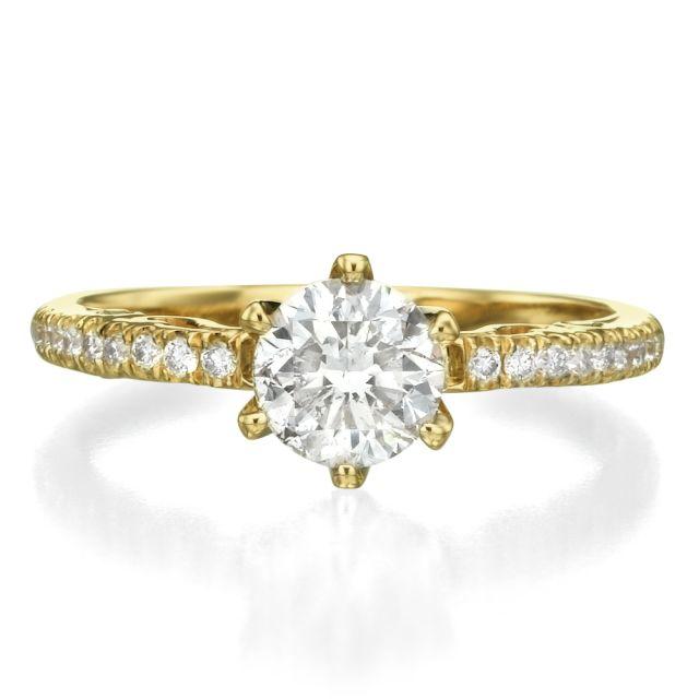 טבעת אירוסין נועם זהב צהוב