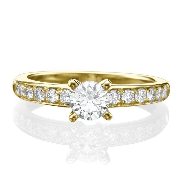 טבעת אירוסין קלאסית דגם לונה