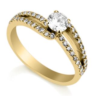 טבעת אירוסין מיקה זהב צהוב