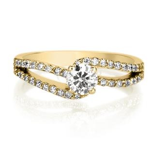 טבעת אירוסין מיוחדת דגם מיקה