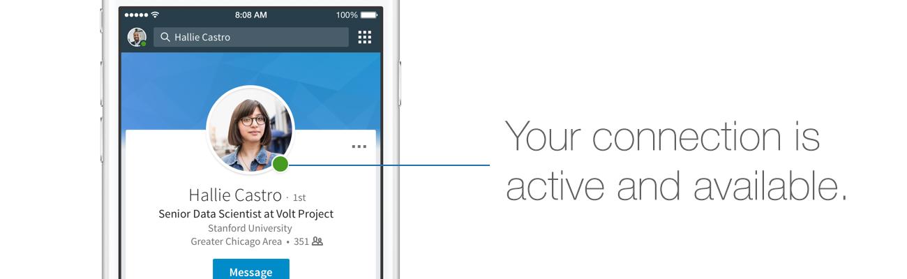 LinkedIn Active Status on Web
