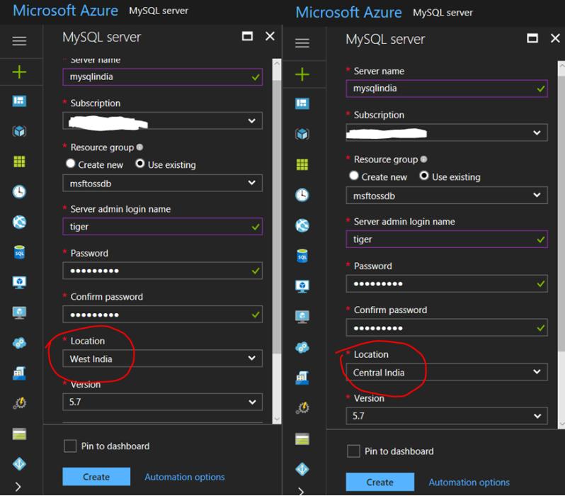azure database for mysql in india