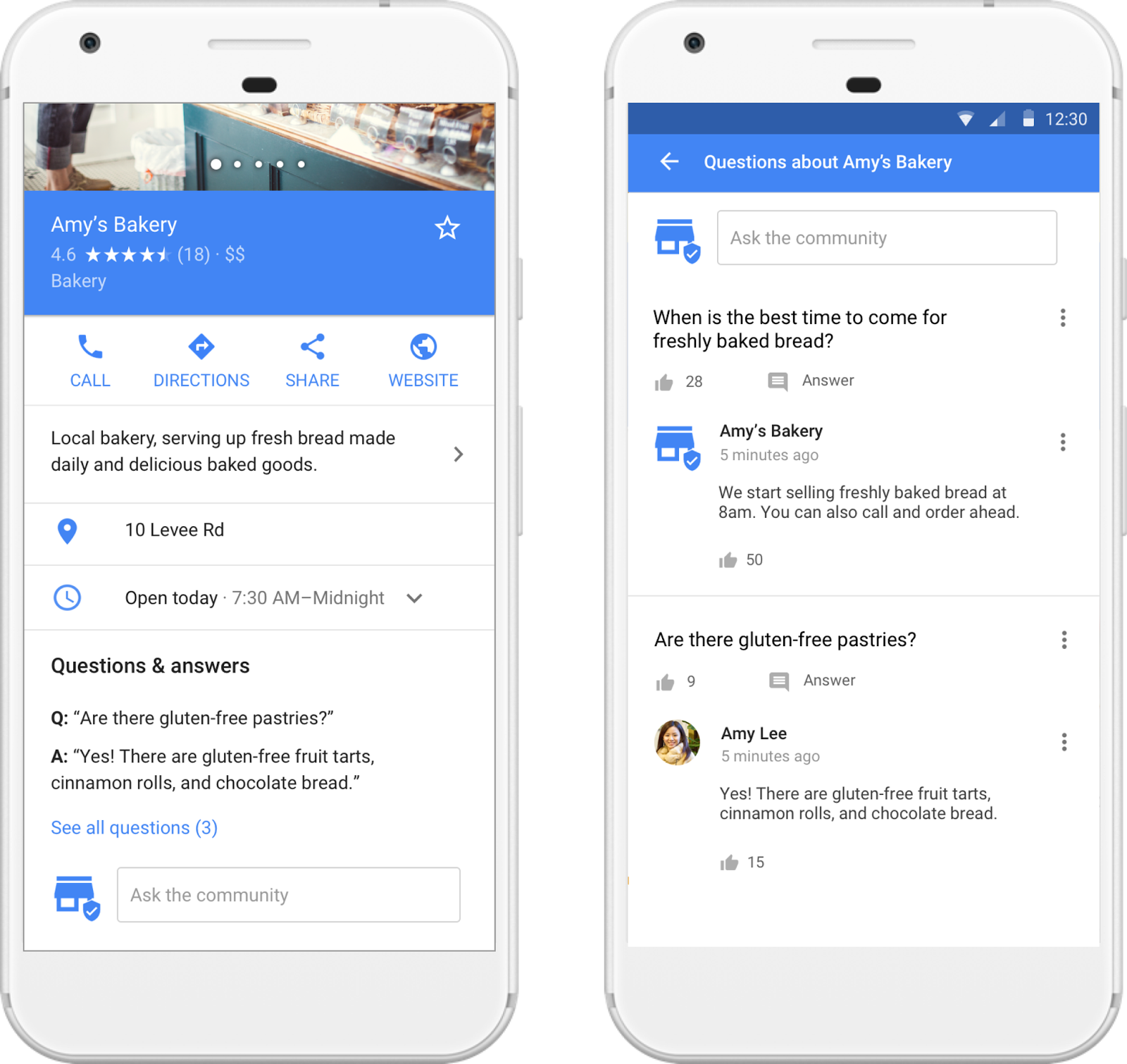 Google local business listing and questions-answer feature