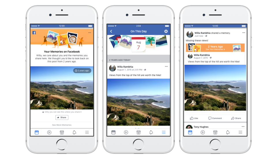 Facebook updates On This Day and Memory Preferences