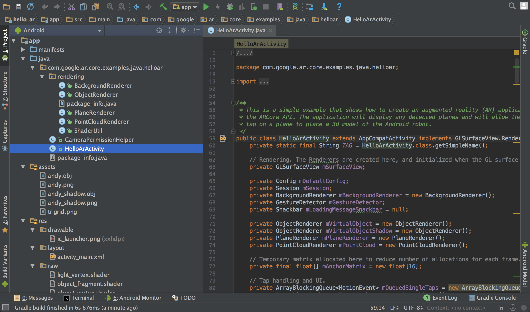 ARCore with Android Studio