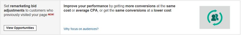 Opportunity Tab in Bing Ads