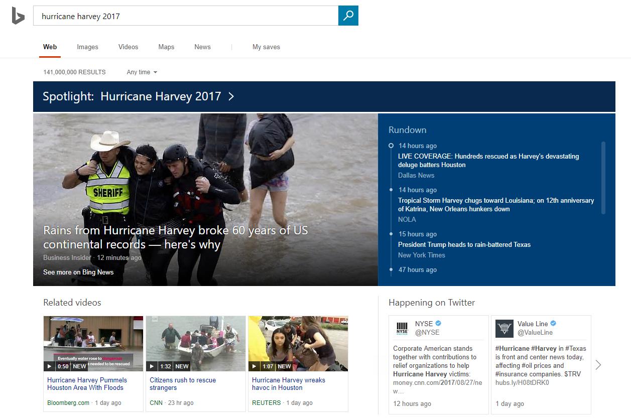 Bing News Spotlight
