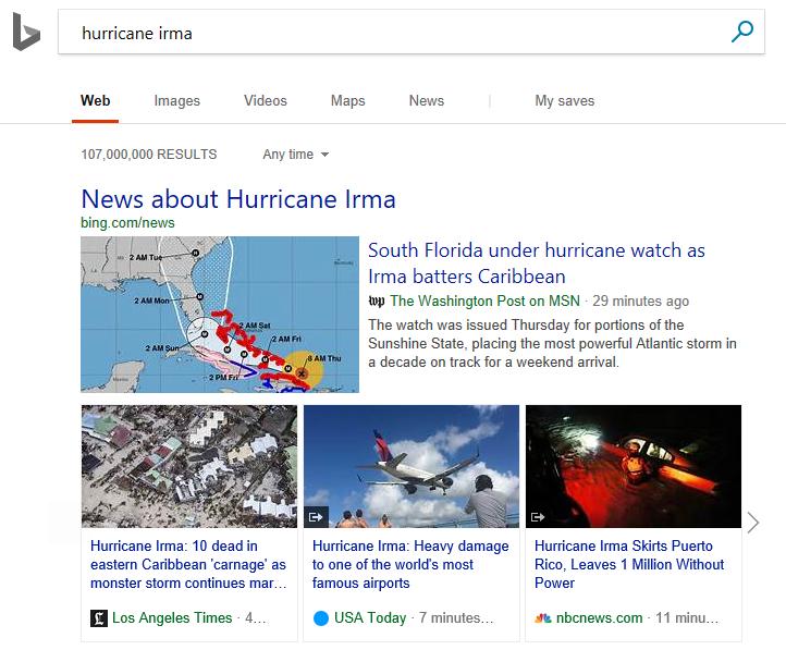 Publisher logos on Bing news resutls