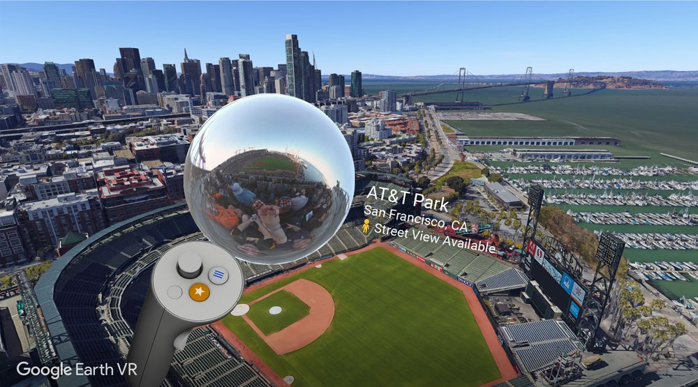 Street View with Google Earth VR