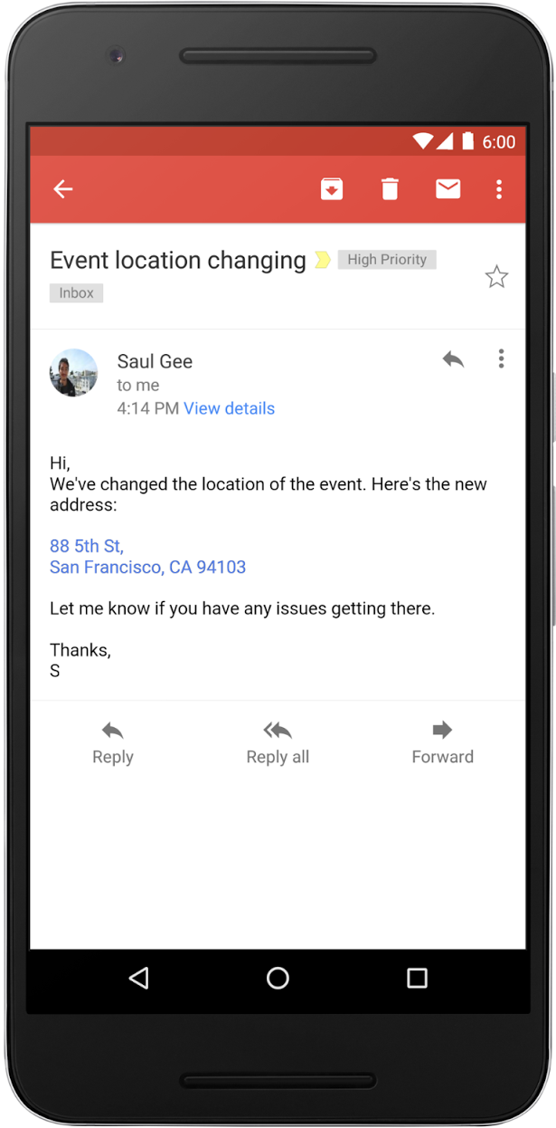 Email composed on Gmail and Inboxy by Gmail