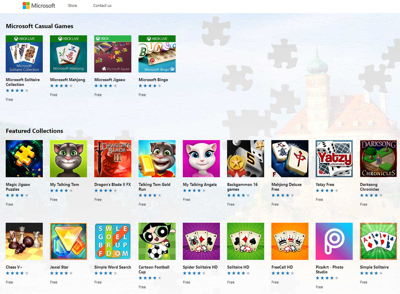 Windows Store Listing of Windows Premium Ads Publishers Program Apps and Games