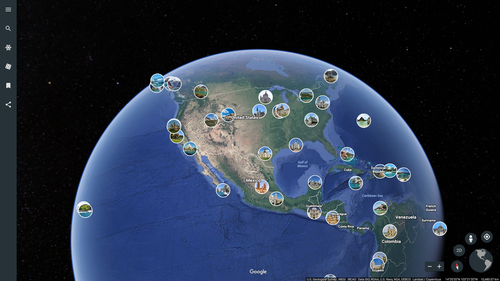 Explore crowdsourced photos in Google Earth