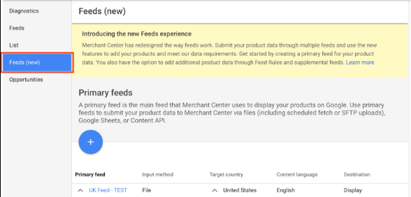 Google Shoping supplemental feeds