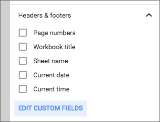 Create custom header and footer in Sheets