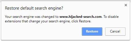 Hijacked settings detection on Chrome