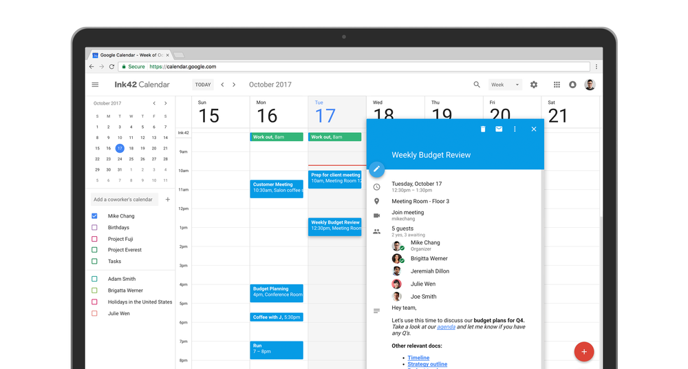 Rich text formating in Google Calendar for web