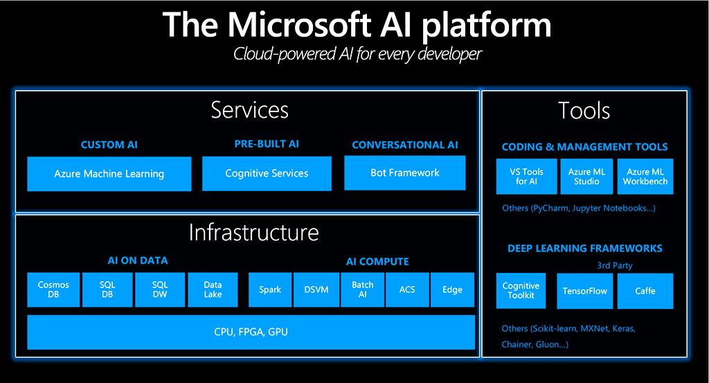 Microsoft AI Platform Infographic