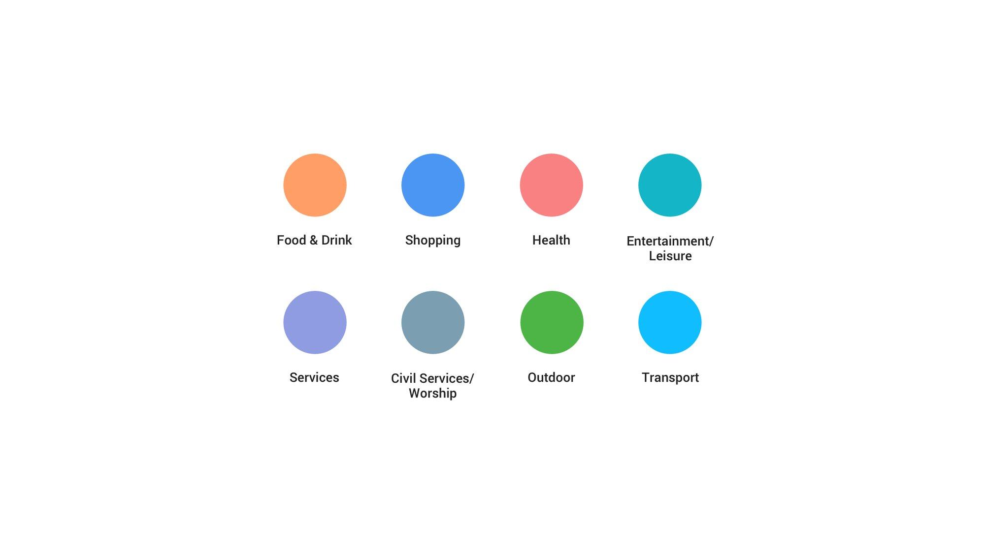 New Google Maps color palette