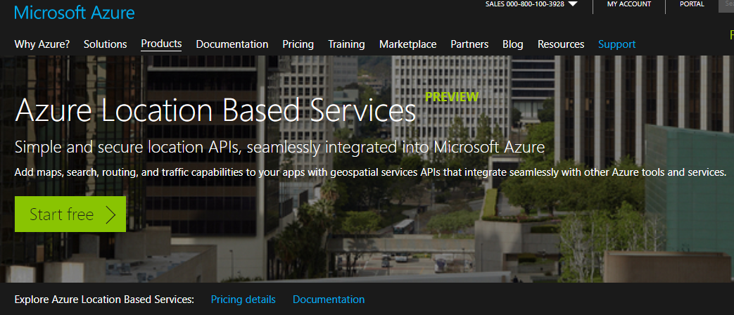 Azure Location Based Services (LBS) - hero