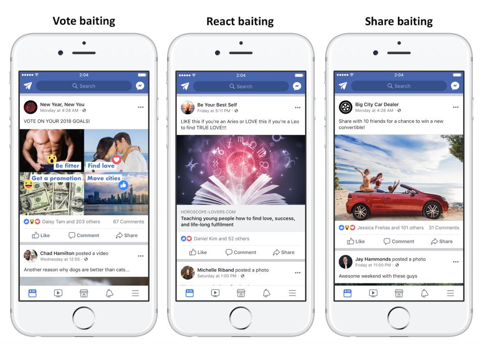Engagement Bait on Facebook