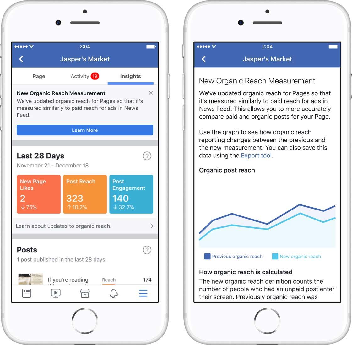 Facebook reach measurement to capture post views
