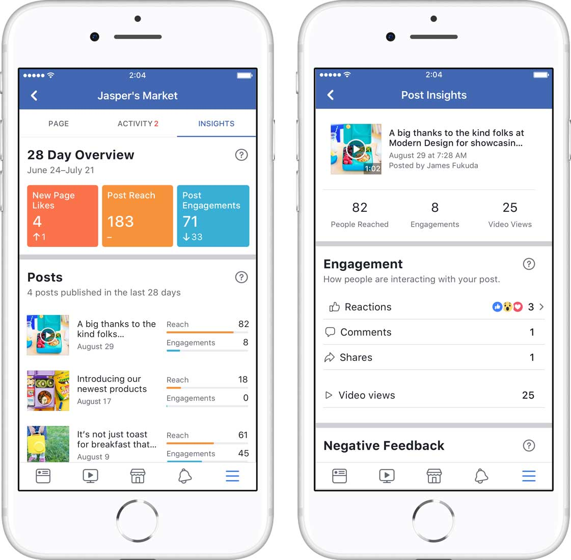 Redesigning Page Insights for mobile