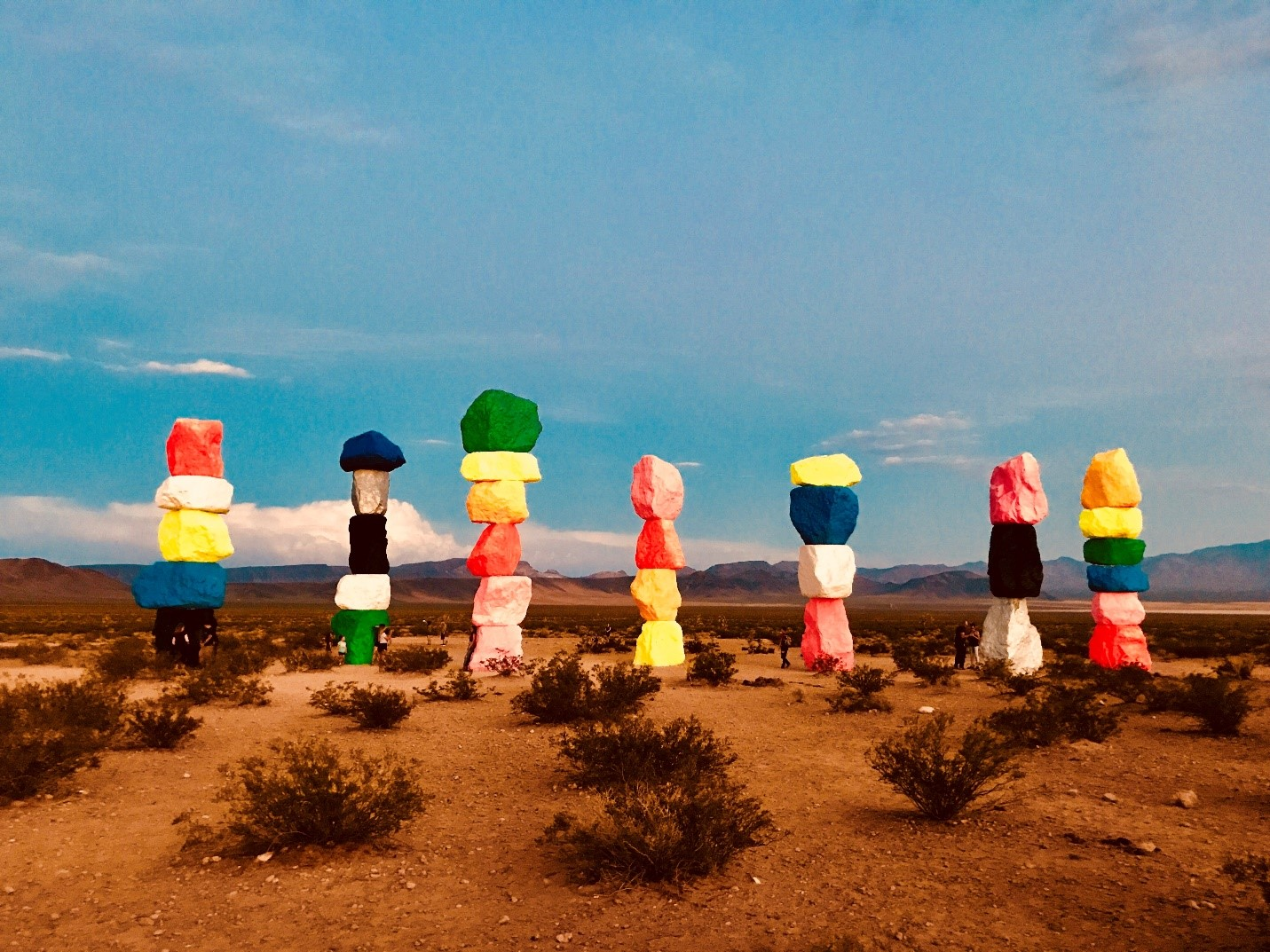 Bing Homepage Photo Contest winning image Seven Magic Mountains