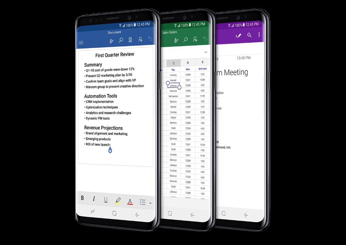 Samsung Galaxy S9 - Run Microsoft Apps