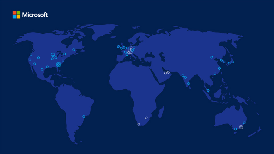 Microsoft Azure World Map