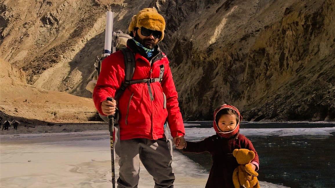 Three Year Old Does The Chadar Trek!