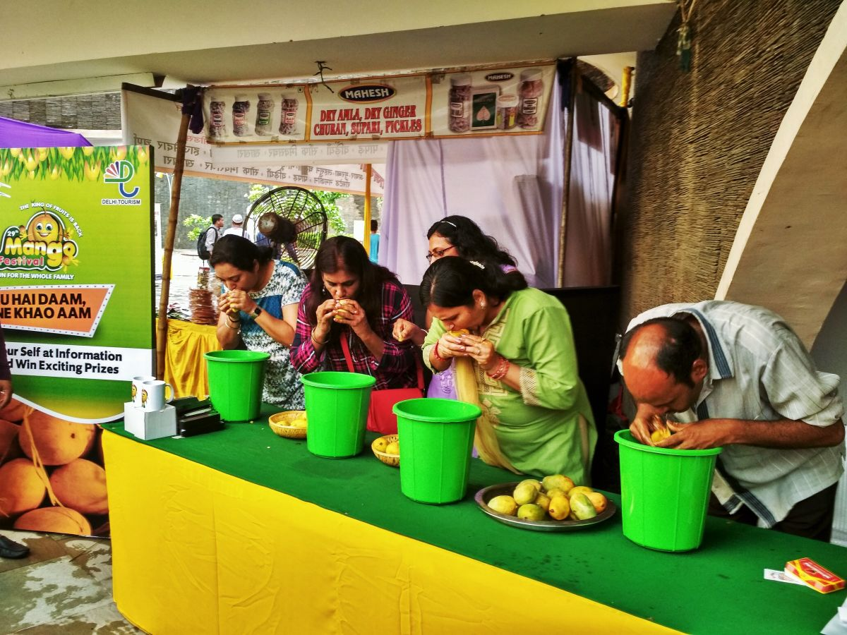 Mango-eating contest