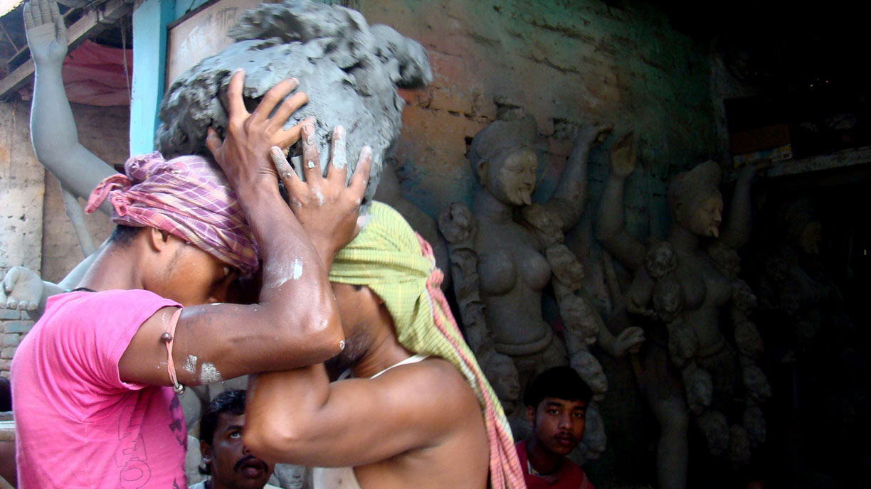 Artistic productions of Goddess Durga in Sova Bazaar