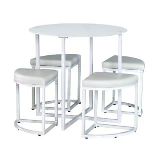 Zeus Set Meja Dan Kursi Makan - Putih