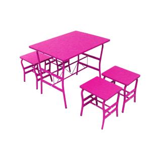 Hazel Set Meja Dan Bangku Anak - Pink