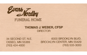 Tom Weber Evans Nordby'13