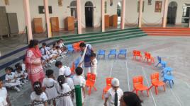 Musical Chair,  Sr Girls at Cantt