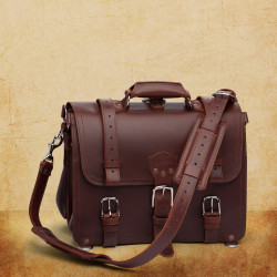 Classic Briefcase - Large, Chestnut (10% Discount)