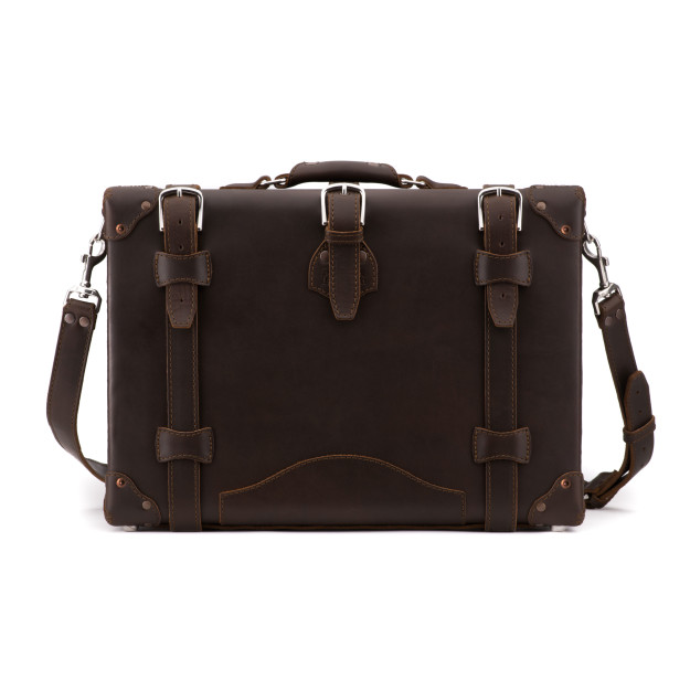 Hard Briefcase Dark Coffee Brown