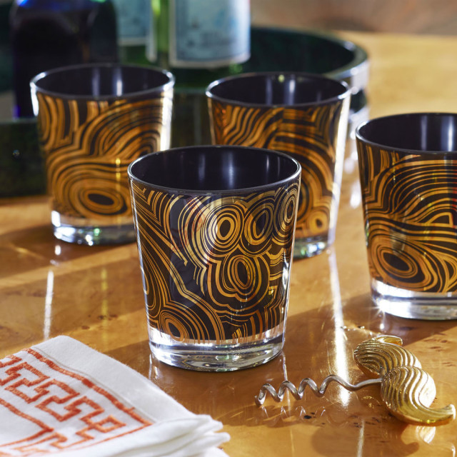 Modern malachite glasses styled jonathan adler jjnabp