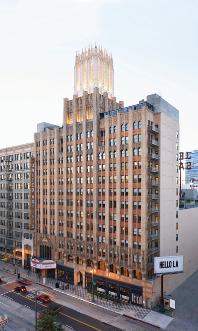 The Ace Hotel's renovated façade