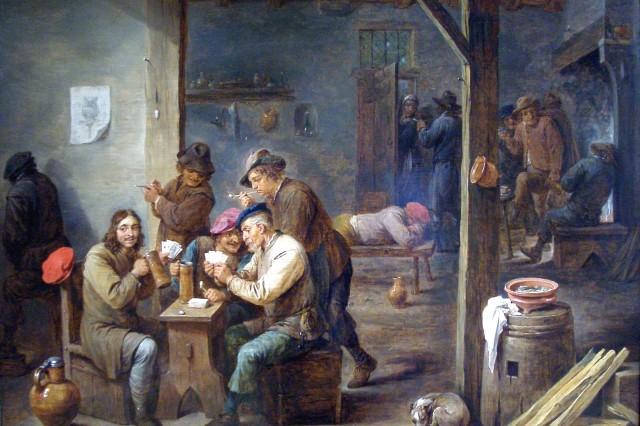 Tavern scene 1658 david teniers ii oyrb8z