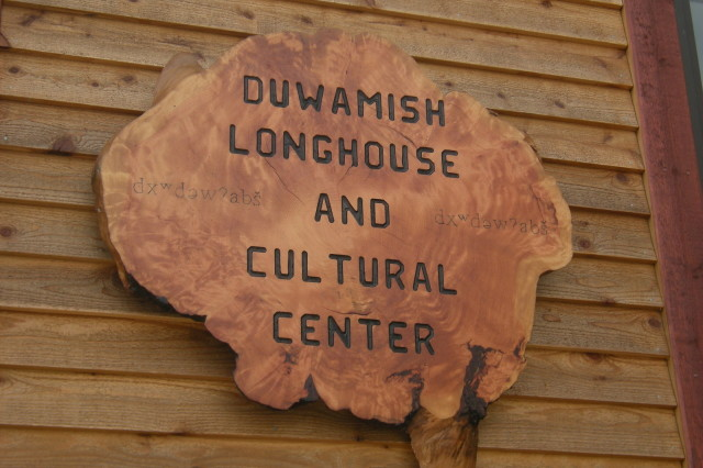 Duwamish longhouse sign hplbvp