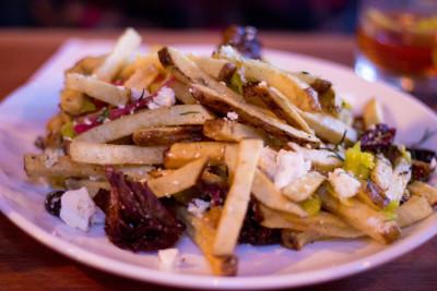 lamb dirty fries at alberta street pub in portland oregon