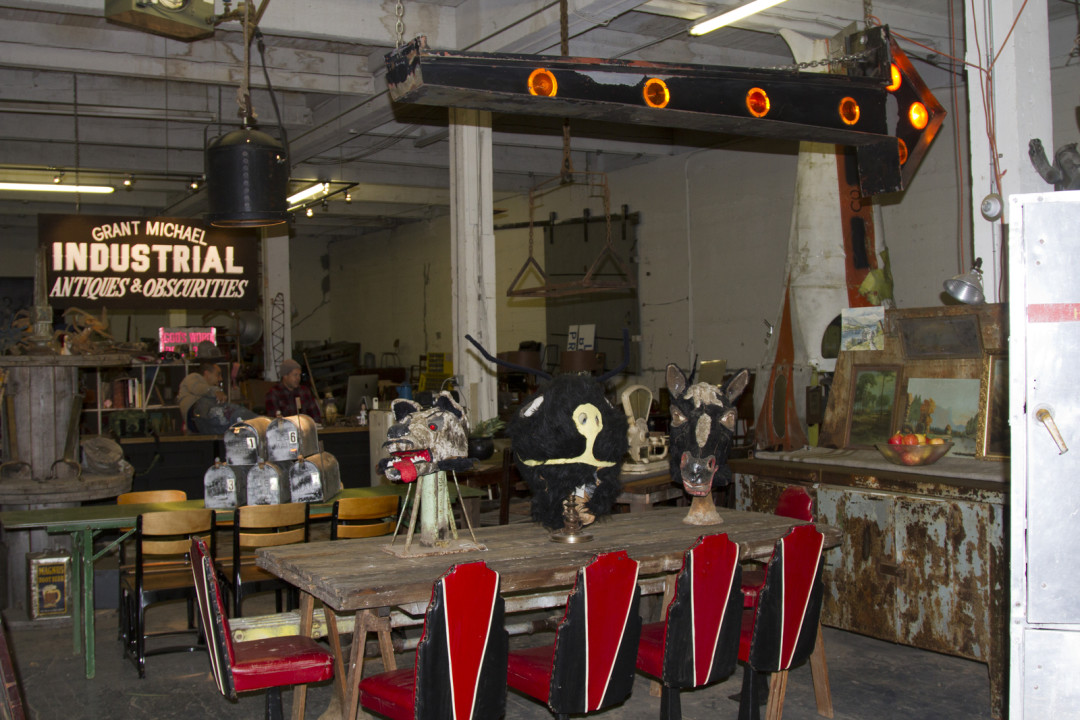 Or The Cavernous Shop Of Up And Coming Industrial Designer And Antique  Dealer Grant Michael Chisholm.