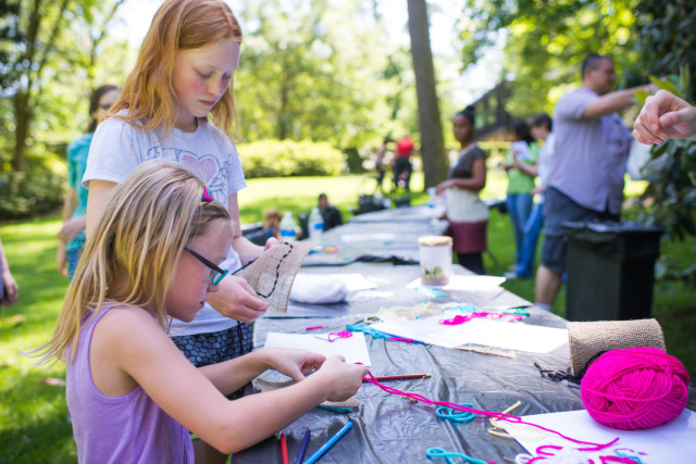 Art making activities at bayou bend exhdfv