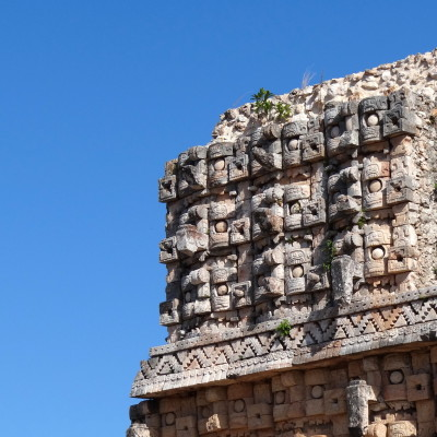 Detail of palace of masks   kabah archaeological site   merida   mexico nos6yx