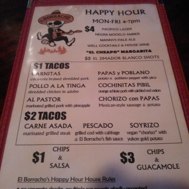 El borracho happy hour hcn5yh