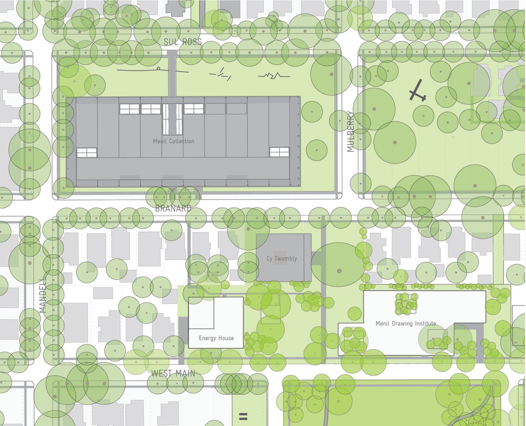 Menil collection unveils drawing institute design houstonia for Site plan drawing online