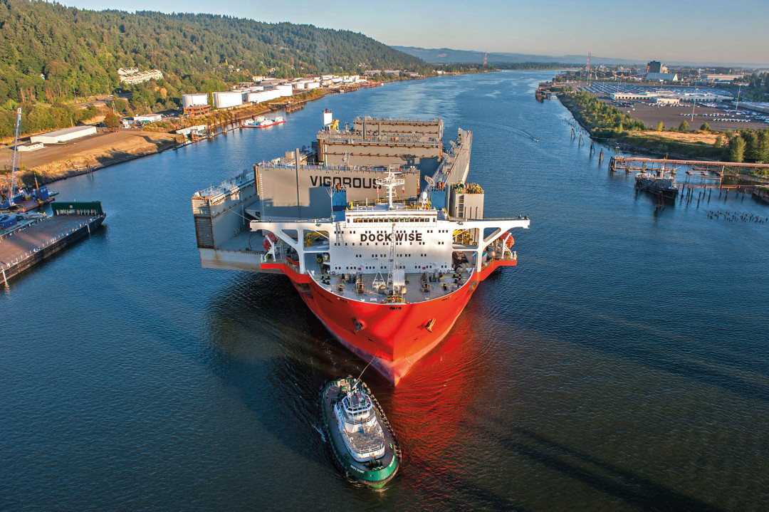 the giant floating drydock that fixed shell s arctic oil