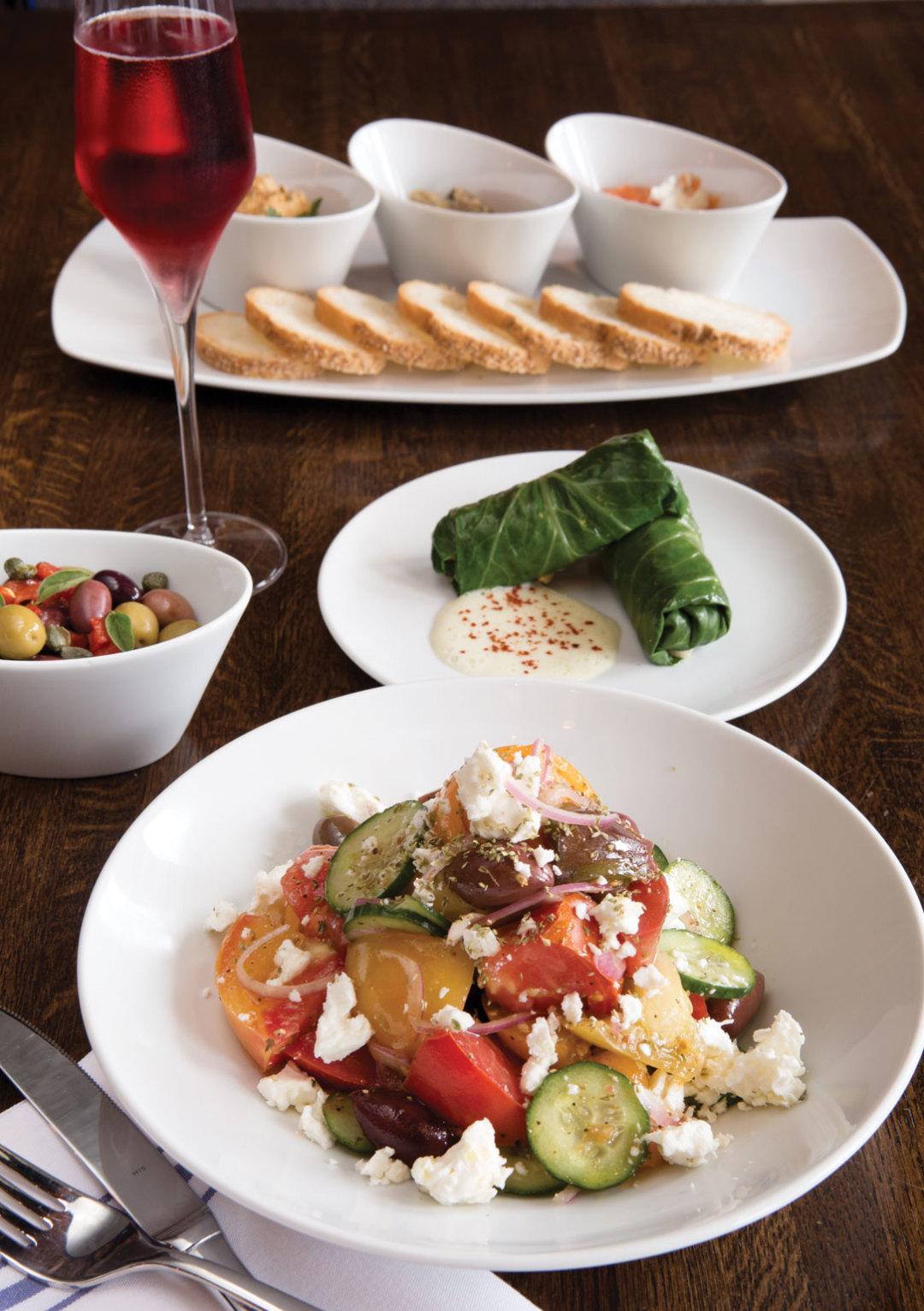 1015 best new restaurants helen greek food wine salad dolmades zwnav1